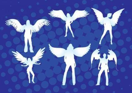 free vector Angel Girls