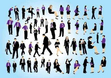 free vector Business People Set