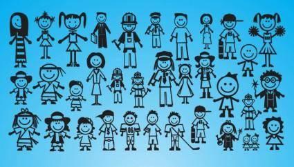 free vector People Drawings