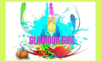 free vector Glamour Girl
