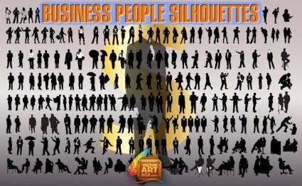 free vector Business People Silhouettes