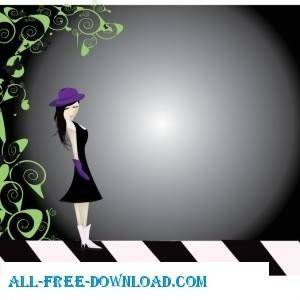 free vector Purple Girl