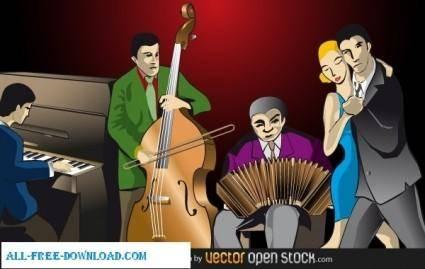 Tango dance music orchestra
