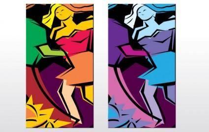 free vector Salsa Dancing Abstract illustration