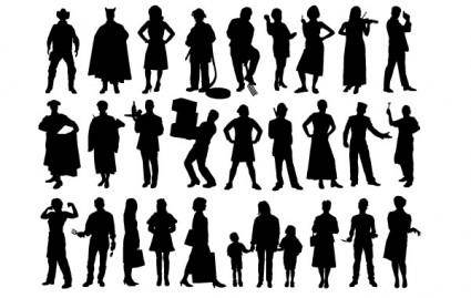 free vector People Silhouette
