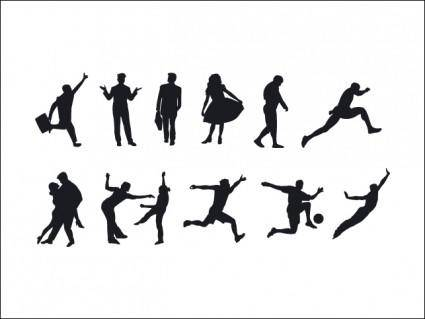 free vector People Silhouettes