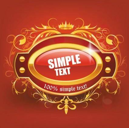 free vector Beautiful red label 01 vector