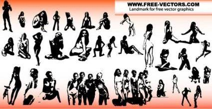 free vector Sexy girls silhouettes free vector