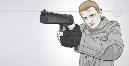 free vector Man with gun vector