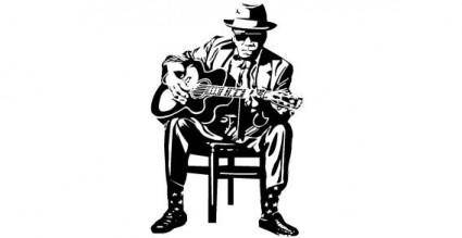 free vector Man with guitar