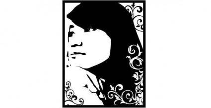 free vector Miss beauty