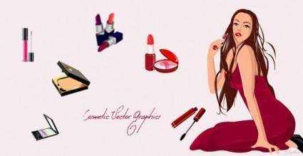 Cosmetics vector graphics