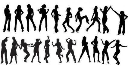 free vector Vector dancers silhouettes