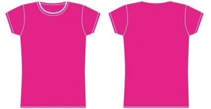 free vector Girls t-shirt template vector