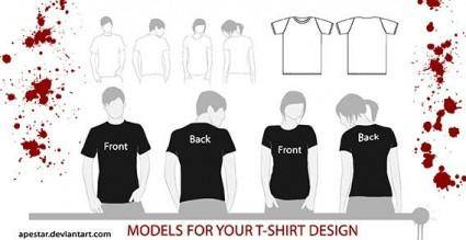 T-shirt template and models