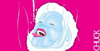 Liquid face free vector