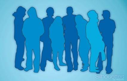 free vector Silhouettes Free Vector