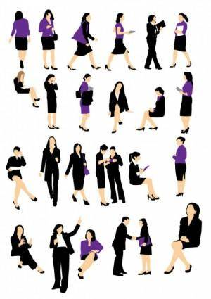 free vector Vector Business woman