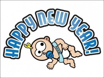 free vector Baby New Year