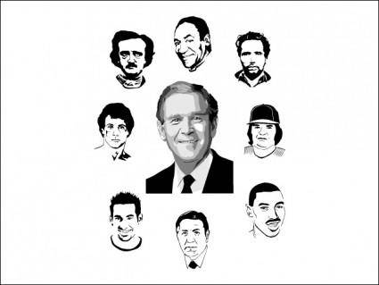 free vector Famous Faces