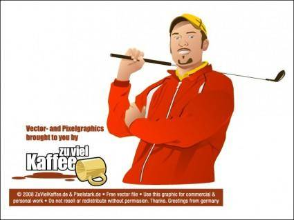 free vector Golf Player
