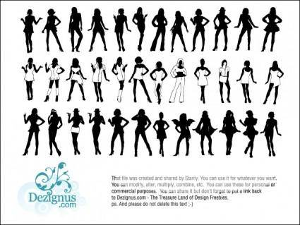 free vector Sexy Girls Silhouettes