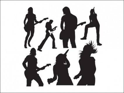 free vector Live Music Vector Silhouettes