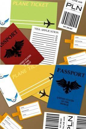 Passport documents vector