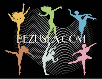 free vector Dance silhouettes