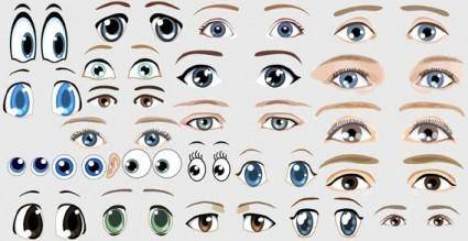 People eyes free vector