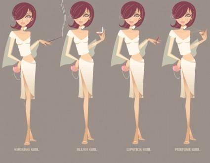 Beauty Girl Vector Graphics