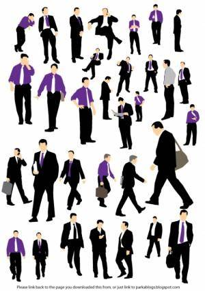 free vector Businessman Silhouette