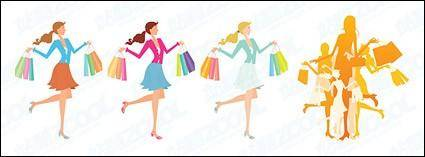 free vector Female fashion shopping