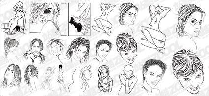free vector People style sketch material