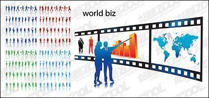 Business elites vector-cut material 28294