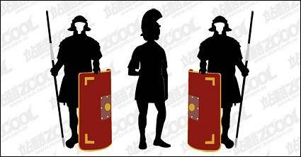 free vector Samurai armor foreign silhouette