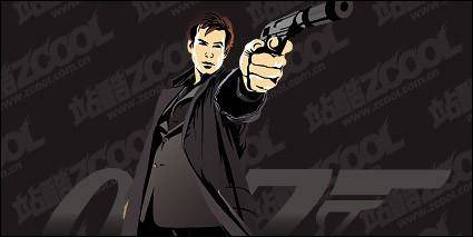 007 film personalities vector material