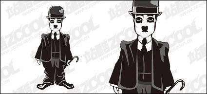 free vector Chaplin vector material