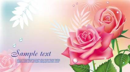 Beautiful roses 05 vector