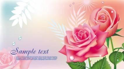 free vector Beautiful roses 05 vector