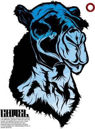 Vector blue camel