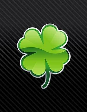 free vector Delicate fourleaf clover vector