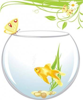 free vector Goldfish vector 4