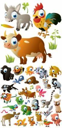Cute cartoon animal images vector
