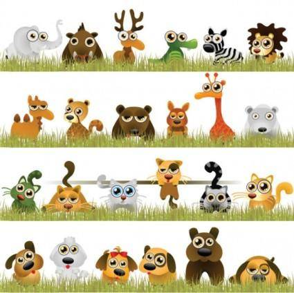 Interesting little animals vector