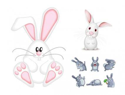 free vector Vector cute rabbit