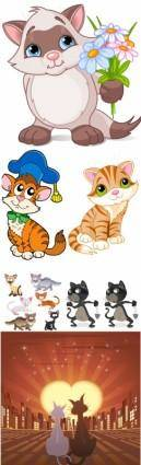 free vector Vector cute cat