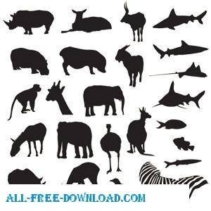 Free Vector Pack Safari And Zoo Animals spoon
