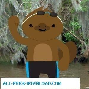 free vector Platypus Swimmer