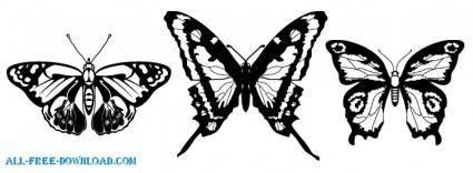 free vector Vector Butterflies